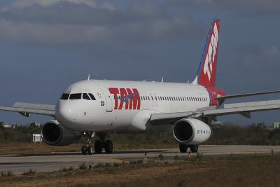 Airbus A320 from Tam Airlinse Taken at Natal Airport, Brazil-Stocktrek Images-Photographic Print
