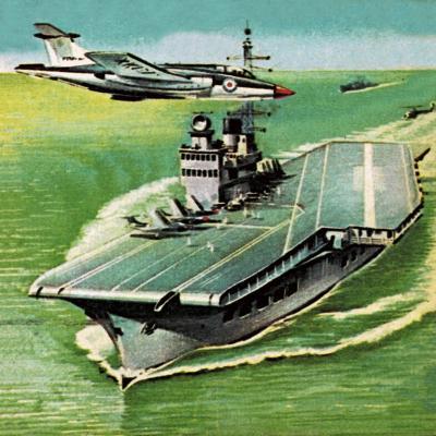 Aircraft Carrier- Escott-Giclee Print