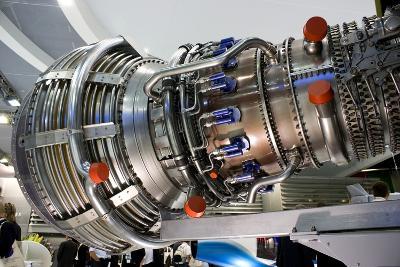 Aircraft Engine on Display.-Mark Williamson-Photographic Print
