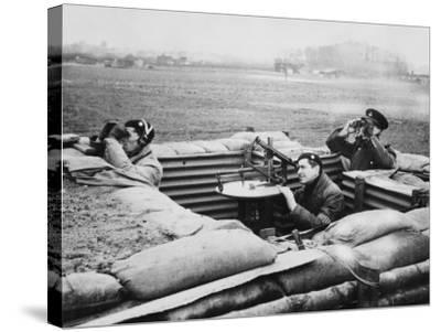 Aircraft Observer Post, During World War Ii-Robert Hunt-Stretched Canvas Print