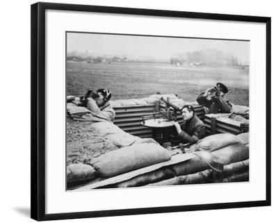 Aircraft Observer Post, During World War Ii-Robert Hunt-Framed Photographic Print