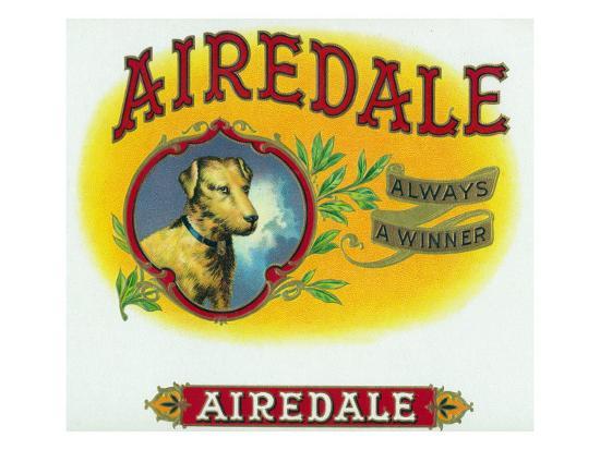 Airedale Brand Cigar Box Label-Lantern Press-Art Print