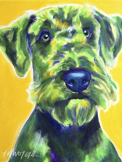 Airedale Terrier - Apple Green-Dawgart-Giclee Print