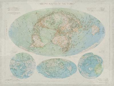 Airline Routes of the World-The Vintage Collection-Giclee Print