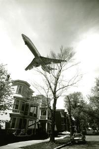 Airliner Above Residential Area