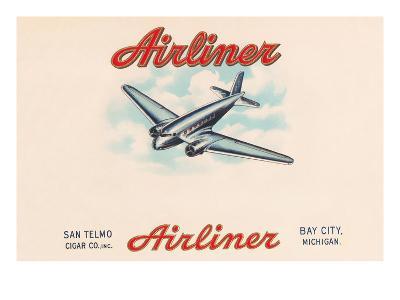 Airliner Brand Cigars--Art Print