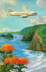 Airliner over Hawaii