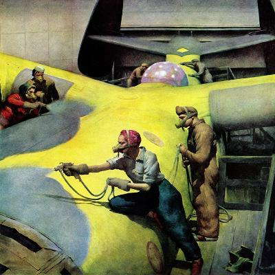 """Airplan Defense Factory,"" June 24, 1944-Robert Riggs-Giclee Print"