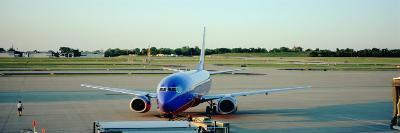 Airplane at the Airport, Midway Airport, Chicago, Illinois, USA--Photographic Print
