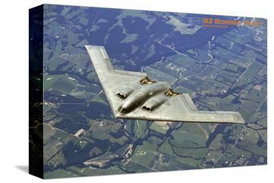 Airplane B2 Bomber Spirit--Stretched Canvas Print