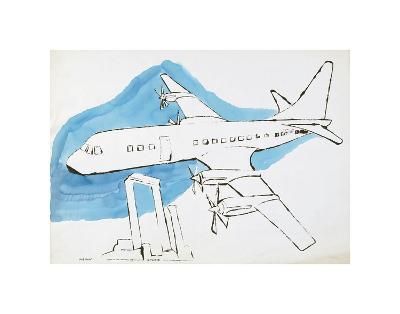 Airplane, c. 1959-Andy Warhol-Art Print