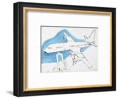 Airplane, c. 1959-Andy Warhol-Framed Art Print