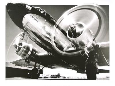 Airplane : City of Portland- Anonymus-Art Print