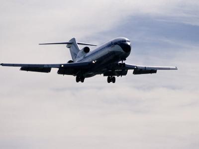 Airplane in Flight-David Harrison-Photographic Print
