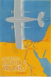 Airplane over Egypt