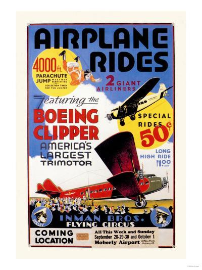 Airplane Rides: Inman Bros. Flying Circus--Art Print