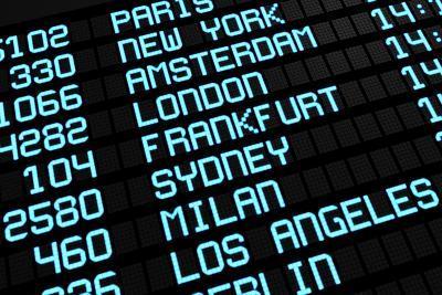 Airport Board International Destinations-NiroDesign-Art Print