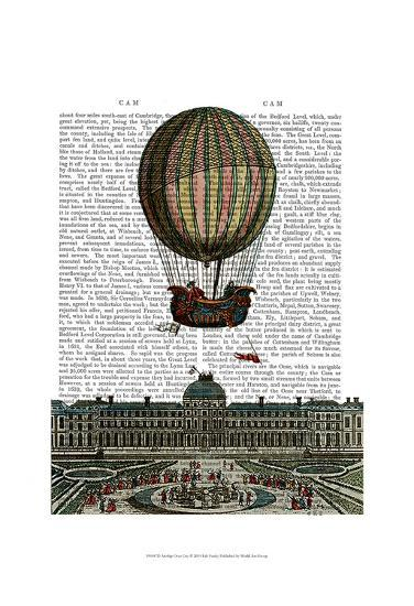 Airship Over City-Fab Funky-Art Print