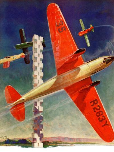 """""""Airshow,""""September 4, 1937-Clayton Knight-Giclee Print"""