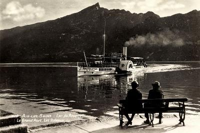 Aix Les Bains, Lac Du Bourget, Raddampfer Hautecombe, Ufer--Giclee Print