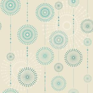 Beautiful Snowflakes. Abstract Seamless Background with Trendy Elements.Vector Pattern for Web-Desi by Ajgul