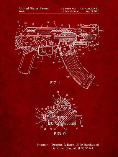 Ak-47 Bolt Locking Patent Print-Cole Borders-Art Print
