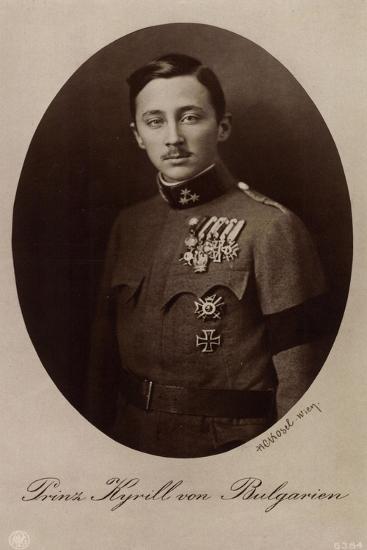 Ak Prinz Kirill Von Bulgarien Mit Bruststern, Npg 6384--Photographic Print