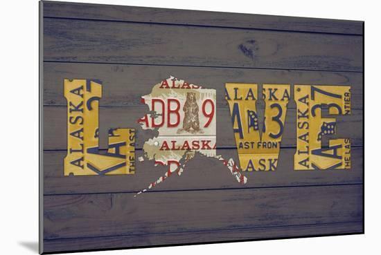 AK State Love-Design Turnpike-Mounted Giclee Print