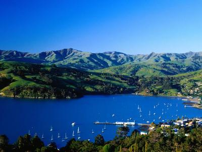 Akaroa Harbour, Banks Peninsula, Canterbury, New Zealand-Paul Kennedy-Photographic Print