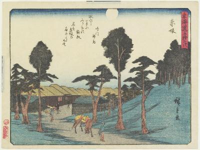 Akasaka, 1837-1844-Utagawa Hiroshige-Giclee Print