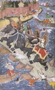 Akbar on the Elephant Hawai Pursuing the Elephant Rau Bagha