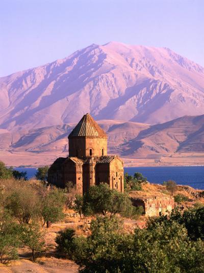 Akdamar Church and Van Lake, Van, Turkey-Izzet Keribar-Photographic Print