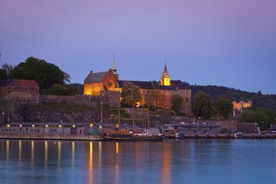 Akershus Fortress and Harbour, Oslo, Norway, Scandinavia, Europe-Doug Pearson-Photographic Print