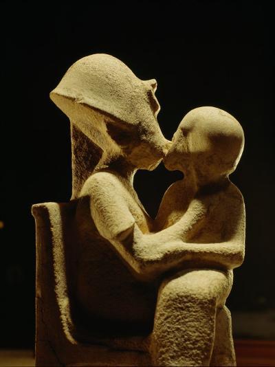 Akhenaten with child, Egyptian Museum, Amarna, Cairo, Egypt-Kenneth Garrett-Photographic Print