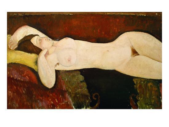 Akt Einer Schlafenden Frau (Le Grand Nu) 1917-Amedeo Modigliani-Giclee Print