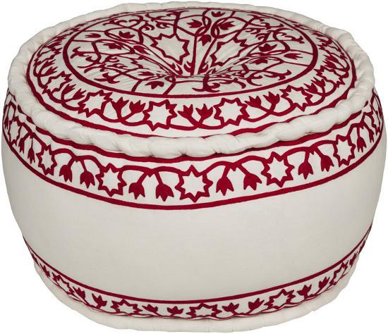 Akua Pouf - Red/Ivory *--Home Accessories