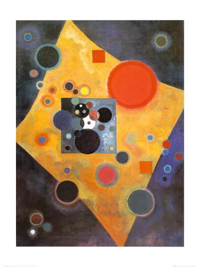 Akzent in Rosa-Wassily Kandinsky-Art Print