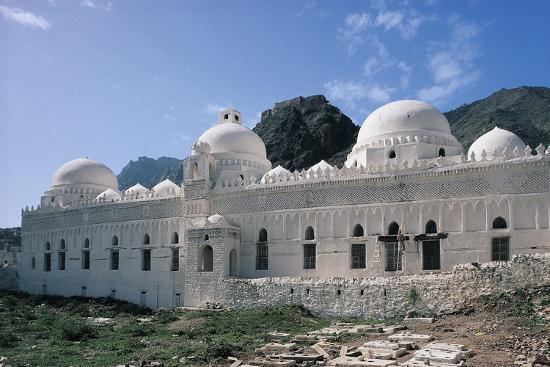 Al Ashrafiyya Mosque with Twin Minarets, 13th Century, Taiz, Taiz Governorate, Yemen--Photographic Print