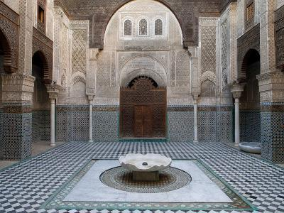 Al-Attarine Madrasa Built by Abu Al-Hasan Ali Ibn Othman, Fes, Morocco--Photographic Print