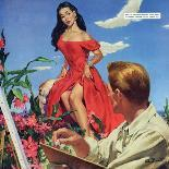 """Man With a Past - Saturday Evening Post """"Leading Ladies"""", December 31, 1955 pg.22-Al Buell-Giclee Print"""
