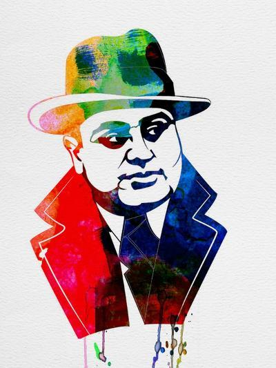 Al Capone Watercolor-Lora Feldman-Art Print