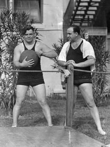 Al Capone Working Out at His Palm Island Home, Miami Beach, C.1930