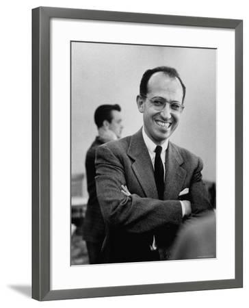Inventor of the Polio Vaccine Dr. Jonas E. Salk Posing for a Picture