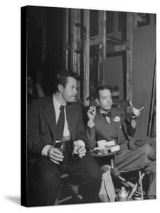 """Orson Welles and Cole Porter Discussing the Stage Production of """"Around the World in 80 Days"""" by Al Fenn"""