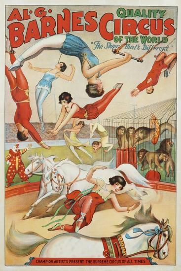Al G. Barnes Circus - Quality Circus of the World Poster--Giclee Print