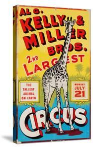 """Al G. Kelly & Miller Bros. 2nd Largest Circus: the Tallest Animal on Earth"", Circa 1941"