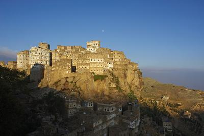 Al Hajjarah Village, Djebel Haraz, Yemen, Middle East-Bruno Morandi-Photographic Print