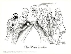 Der Rosenkavalier, with Pavarotti by Al Hirschfeld