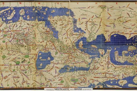 Al-Idrisi's World Map, 1154-Library of Congress-Photographic Print