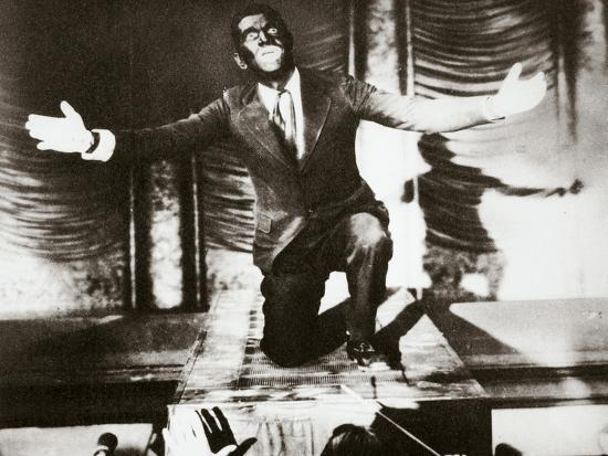 Al Jolson, American singer, in the final scene from the film 'The Jazz Singer', 1927-Unknown-Photographic Print